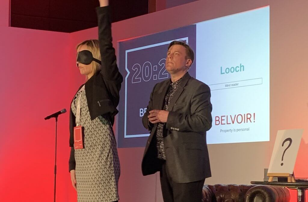 Photo of Looch performing at the Belvoir National Conference