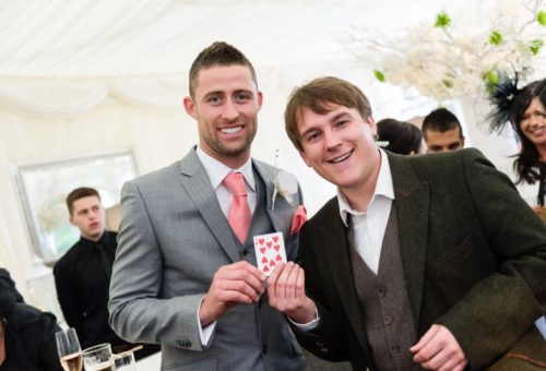 Looch performing at Gary Cahill's Wedding