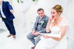 Image of Wedding Mind Reader Looch performing.