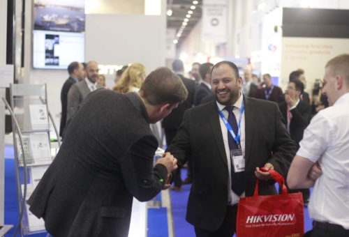 Photo of IFSEC tradeshow with Looch Mindreader