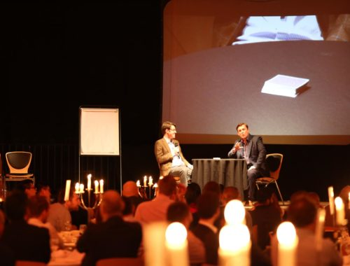 Photograph showing Looch the Mindreader performing for Corporate Events in the UK