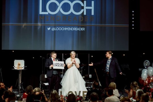 Photo of Looch with his wedding entertainment in Nottingham
