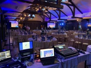 Photo of the PPWH Annual ball being set up