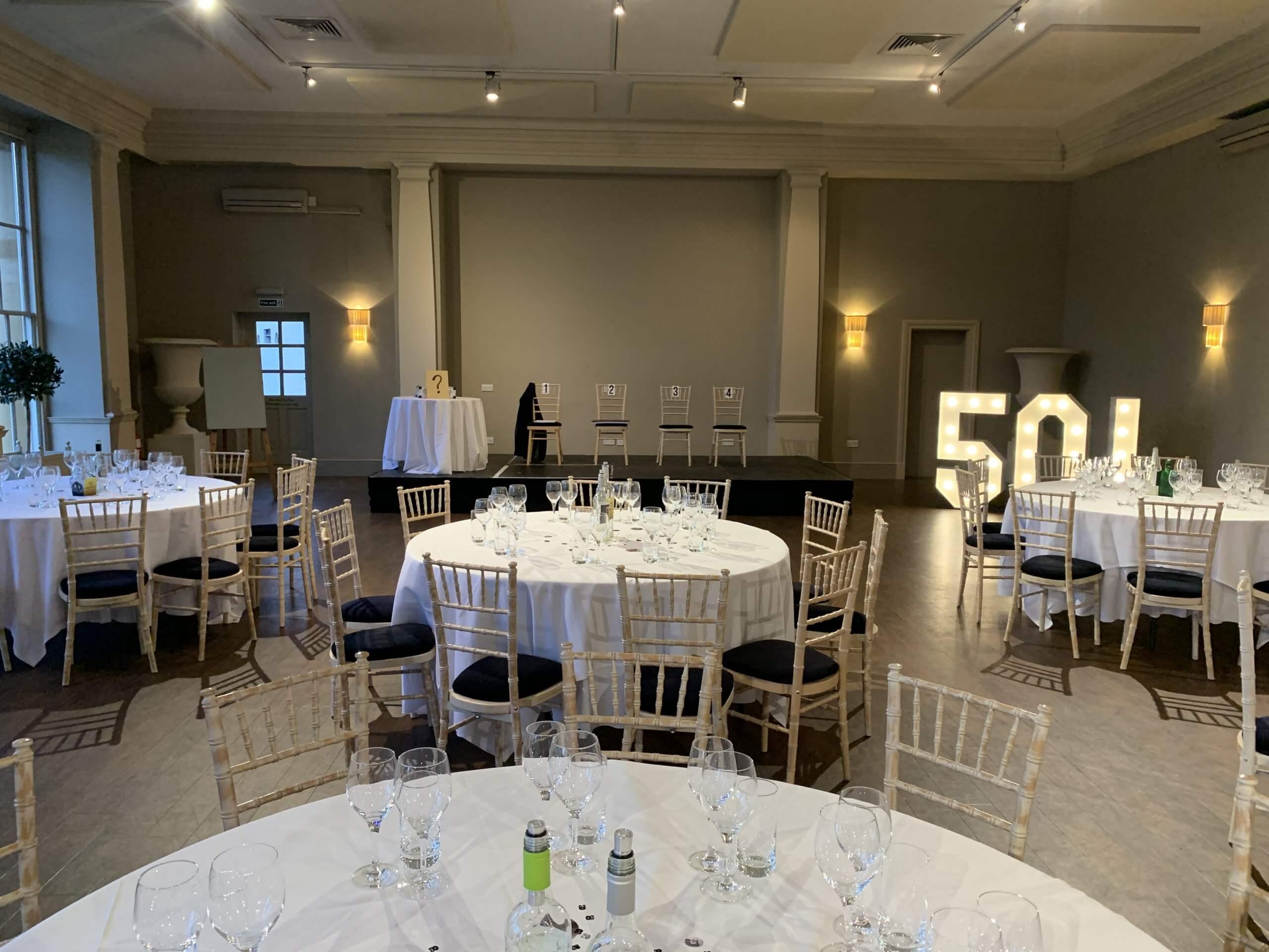 Stubton Hall ready for my show