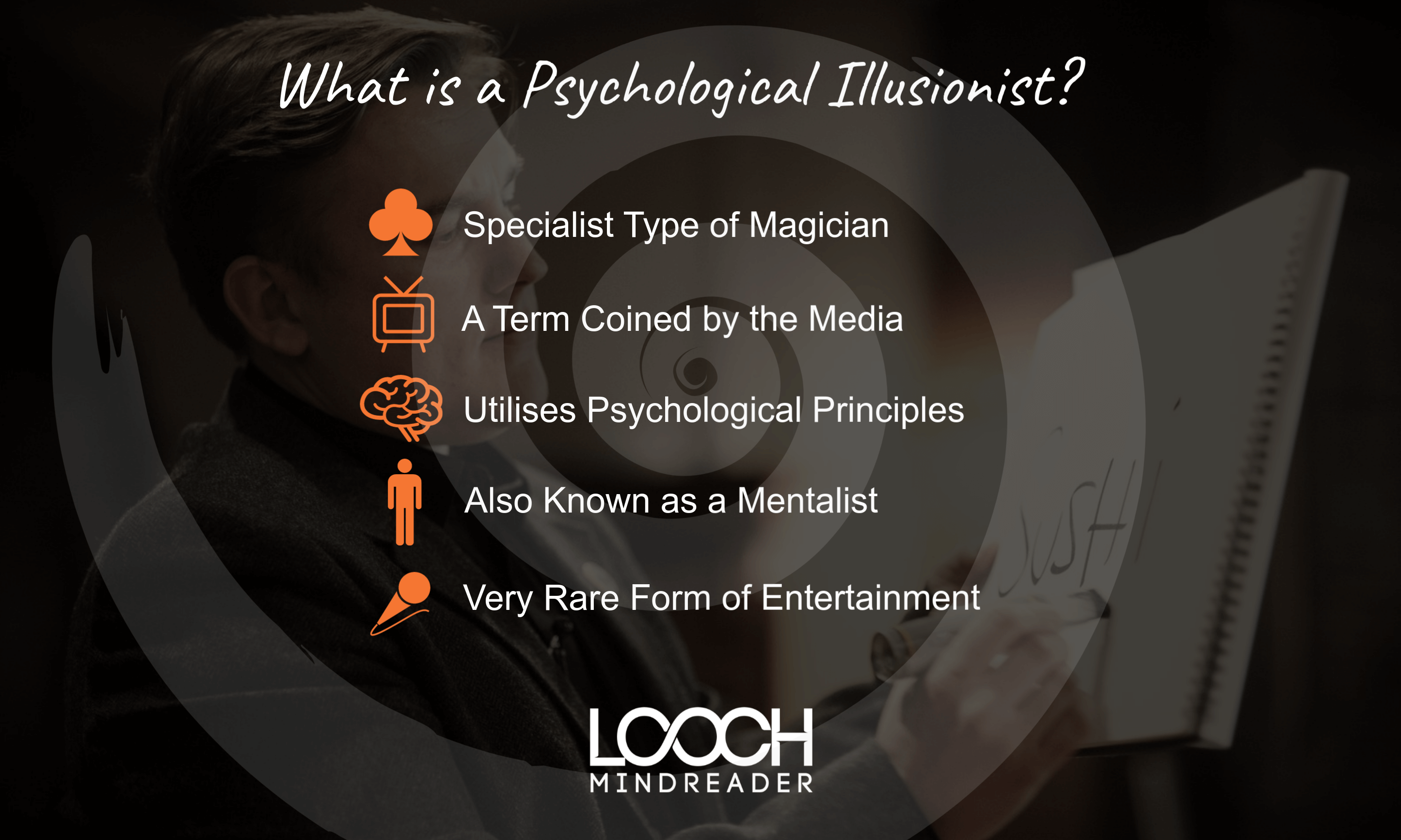 Infographic showing What is a Psychological Illusionist