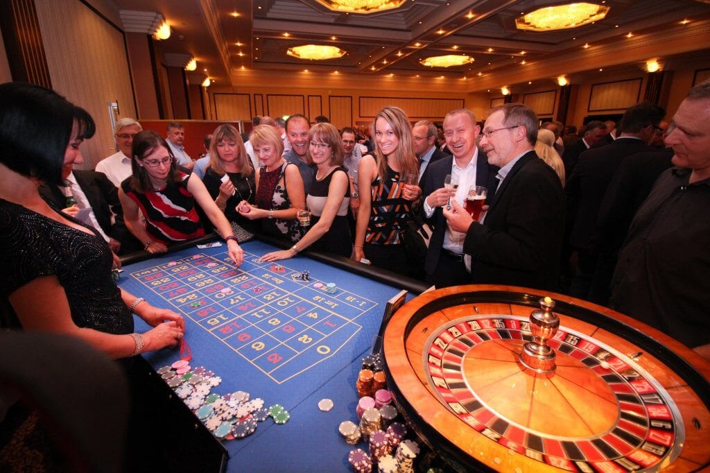 Image showing Casino hire for drinks reception