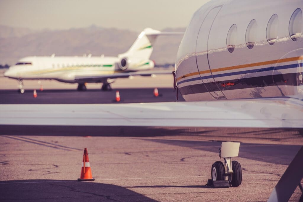 Photo of a private plane magician